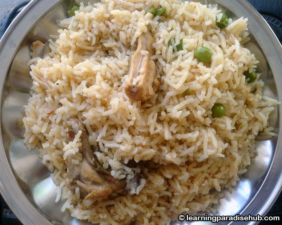 Chicken Pulao - Indian Chicken and Rice Recipe