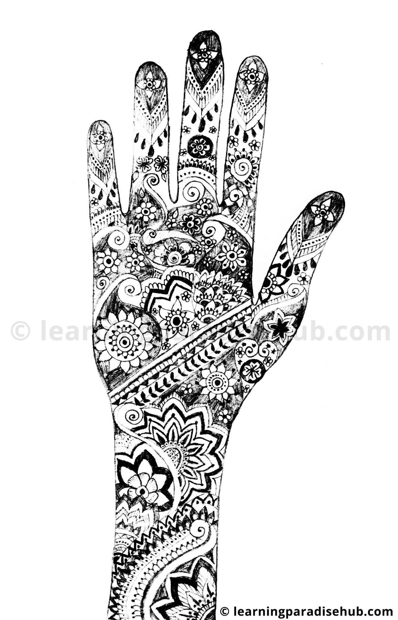 Mehndi Designs For New Learners : Simple floral mehndi design for new year designs