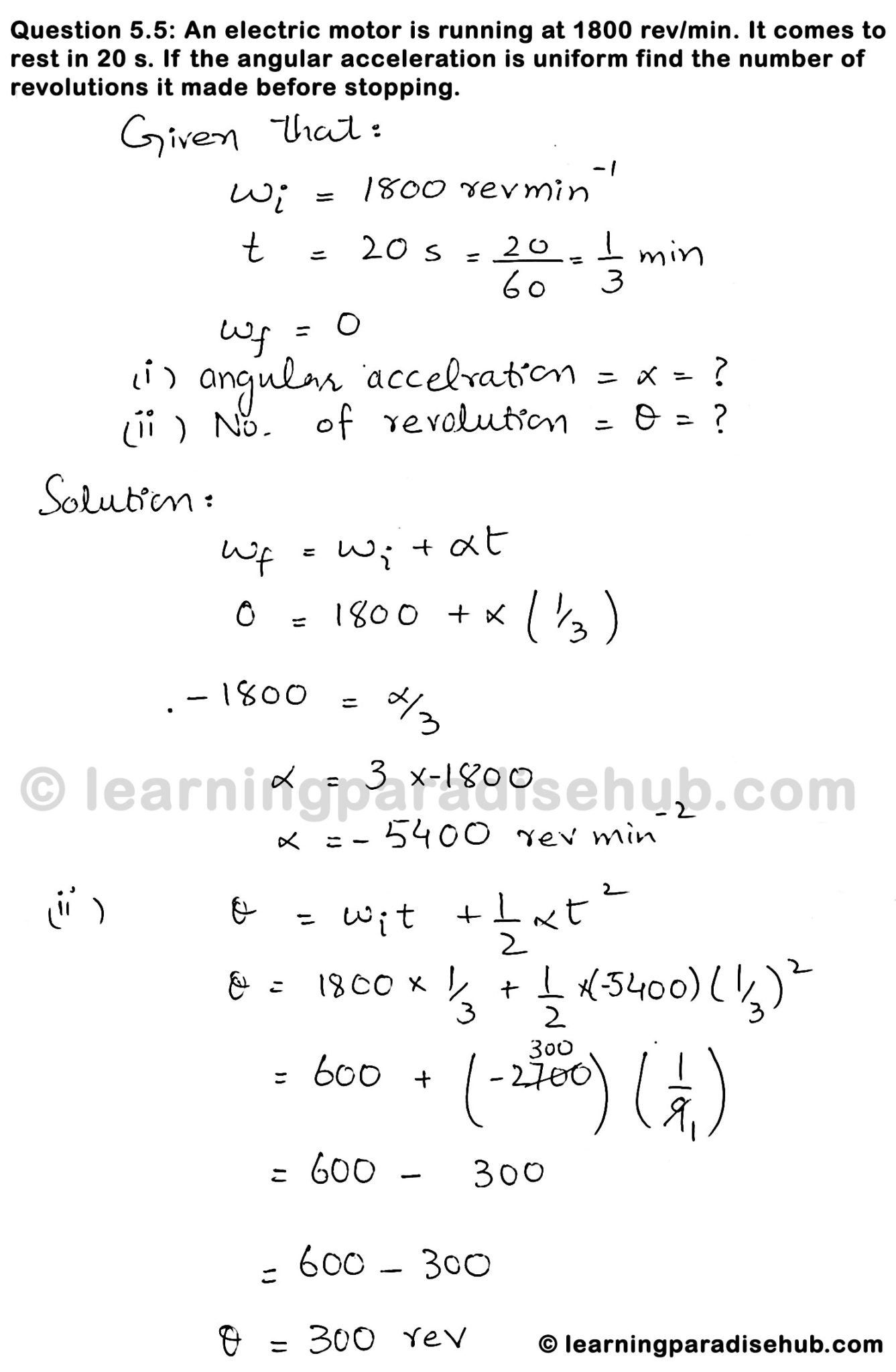 Question 5 5 - Chapter Five - Rotational and Circular Motion